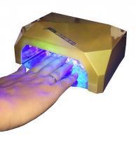 Cabine para unha estufa secador de unhas  gel 36w manicure secagem profissional ultra rapida dourada (qz-fd336w) - Ccfl  led