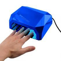 Cabine para unha estufa secador de unhas  gel 36w manicure secagem profissional ultra rapida (qz-fd336w) - Ccfl  led