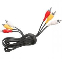 Cabo 3 rca (audio/video) 1,8mt cbd003 gv brasil -