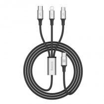 Cabo 3n1 Rapid Series: Micro USB + Lightning + Type-C para Type-C - Baseus