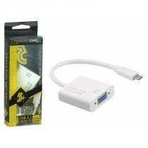 Cabo Adaptador USB Tipo C 3.1 para Porta de Vídeo VGA - 018-7490 - ChipSCE - Chip sce