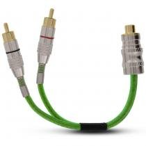 Cabo Coaxial Y TechNoise Series 400 Pro 2M 1F 5mm 20cm Verde - Technoise