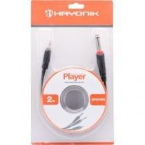 Cabo de Audio 2P10 Mono X 1P2 Estereo 2M Player Preto Hayonik -