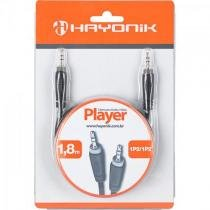 Cabo de audio e video linha player 1p21 1,8 metros preto hayonik Hayonik