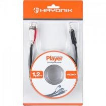 Cabo de audio e video linha player p2 x rca2 1,2 metros preto hayonik Hayonik