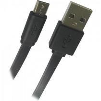 Cabo de Dados Micro USB FLAT 1,8M UMI-401/1.8BK Preto Fortrek -