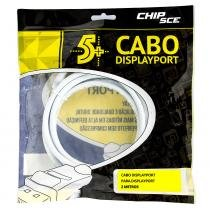 Cabo displayport para displayport, chipsce 2 metros - Chip sce