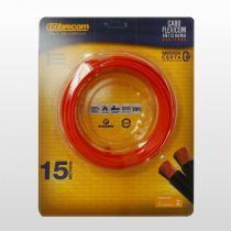 Cabo Flexível Flexicom 1,5mm² 750v 15m Encartelado Rolo Vermelho Cobrecom - COBRECOM