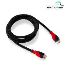 Cabo HDMI 1.4 3,0M 19 PIN Revestido de Nylon WI236 - Multilaser - Multilaser