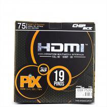 Cabo HDMI 1.4 - 4K, Ultra HD, 3D, 19 Pinos - 75 metros - Chip sce
