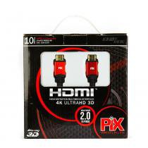 Cabo hdmi 2.0 - 4k, ultra hd, 3d, 19 pinos - 10 metros - UNICO - Chip sce