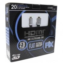 Cabo HDMI 2.0 Premium Flat Desmontável 4k Ultra HD 3D Chip Sce - 19 Pinos - 20 Metros - 018-9820 -