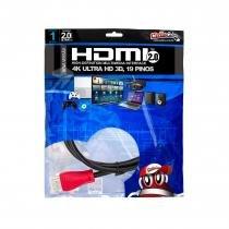 Cabo HDMI 2.0 Premium Ultra HD 4K50/60 3D, ChipSce - 1 metro - UNICA - UNICO - CHIP SCE
