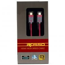 Cabo HDMI High Speed, 3D, 4K, 18Gbps, ROSSO - DISCABOS -