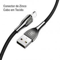 Cabo Lightning Liga de Zinco Baseus Mageweave com 100CM e 2A -