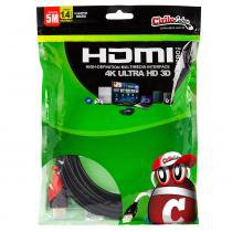 Cabo micro hdmi para hdmi 1.4 ultra hd 3d, 5 metros - chipsce - Chip sce