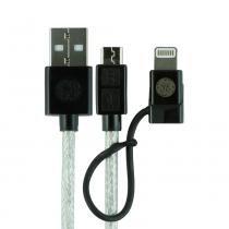 Cabo Micro USB General Electric Pro 1,80m Ultra Resistente com Adaptador Apple Conector Lightning -