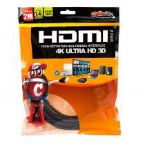 Cabo MINI HDMI para HDMI 1.4 Ultra HD 3D, 2 metros - Cirilo Cabos - UNICO - CIRILO CABOS