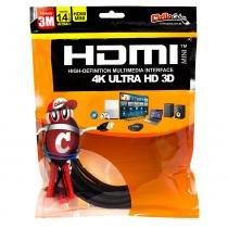 Cabo MINI HDMI para HDMI 1.4 Ultra HD 3D, 3 metros - Cirilo Cabos - UNICO - CIRILO CABOS
