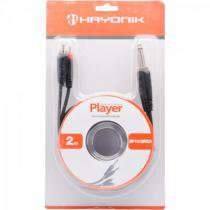 Cabo para audio 2p10 x 2rca 2m player preto hayonik - Hayonik