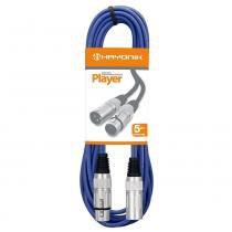 Cabo para Microfone XLR(F) X XLR(M) 5 Metros Azul - Hayonik - Hayonik