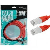 Cabo Patch Cord Cat6E Rj45 Ftp Vermelho 5 metros Chip Sce 018-9923 - Chip Sce