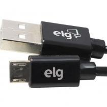 Cabo Recarga/Sincronização 1m Micro USB ELG L510 Preto -