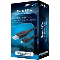 Cabo Usb (3 Metros) Dreamgear Charge And Play - Ps4 - DreamGear
