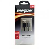 Cabo USB/USB-C 2.0 Preto 1,2M - EZ-C11C2AMGBK4I - Energizer -