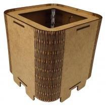 Cachepot Porta Objetos em MDF de Encaixe 11x11x11cm Liso - Palácio da Arte -
