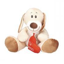Cachorrinho Nick Amo Você de Pelúcia Bichinhos Carinho -