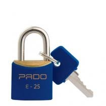 Cadeado Colorido Azul Sm E-25 - 25 Mm Bl.C/01 Pado - Pado