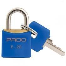 Cadeado Colorido Azul Sm Lt-20Mm Bl.C/01 Pado - Pado