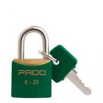 Cadeado Colorido Verde Sm E-25Mm Bl.C/01 Pado - Pado