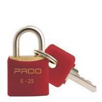 Cadeado Colorido Vermelho Sm E-25Mm Bl.C/01 Pado - Pado