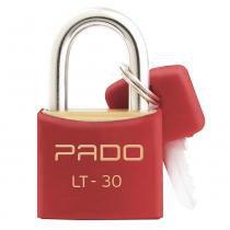 Cadeado Com Chaves Colors - LT 30mm - Vermelho - Pado -