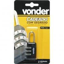 Cadeado com segredo 20mm preto 3 combinações - Vonder - Vonder