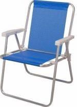 Cadeira alta alumínio sannet azul Mor -