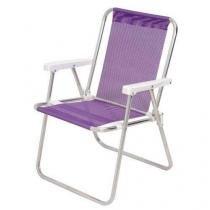 Cadeira Alta Alumínio Sannet Lilás Mor -