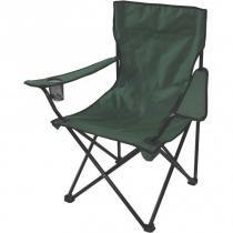 Cadeira Aurora Dobrável com Braço e Porta-Copos Verde EchoLife -