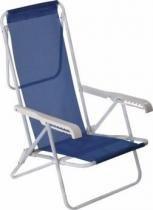 Cadeira azul aço reclinável 8 posições Mor -