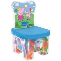 Cadeira Baú Educa Kids Peppa com Acessórios - Líder Brinquedos