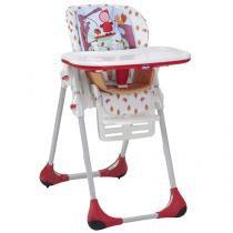 Cadeira de Alimentação Chicco Polly 2 em 1 - Happy Land Reclinável 7 Posições de Altura