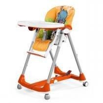Cadeira de Alimentação Peg Pérego Prima Pappa Dinner - Hippo Arancio - Peg Pérego