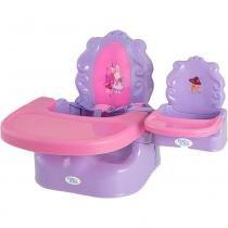 Cadeira de Alimentação Portátil Rosa e Lilás - First Steps -