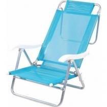 Cadeira de Alumínio Mor Sol e Verão, Azul - Mor