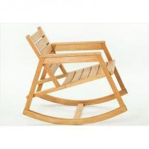 Cadeira de Balanço Janis Jatobá - Mão  Formão - Mão  Formão