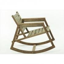 Cadeira de Balanço Janis Nogueira - Mão  Formão - Mão  Formão