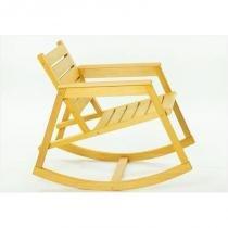 Cadeira de Balanço Janis Stain Amarelo - Mão  Formão - Mão  Formão