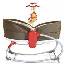 Cadeira de Balanço Tiny Love e Berço Portátil 3 em 1 Rocker Napper - Marrom - Tiny Love